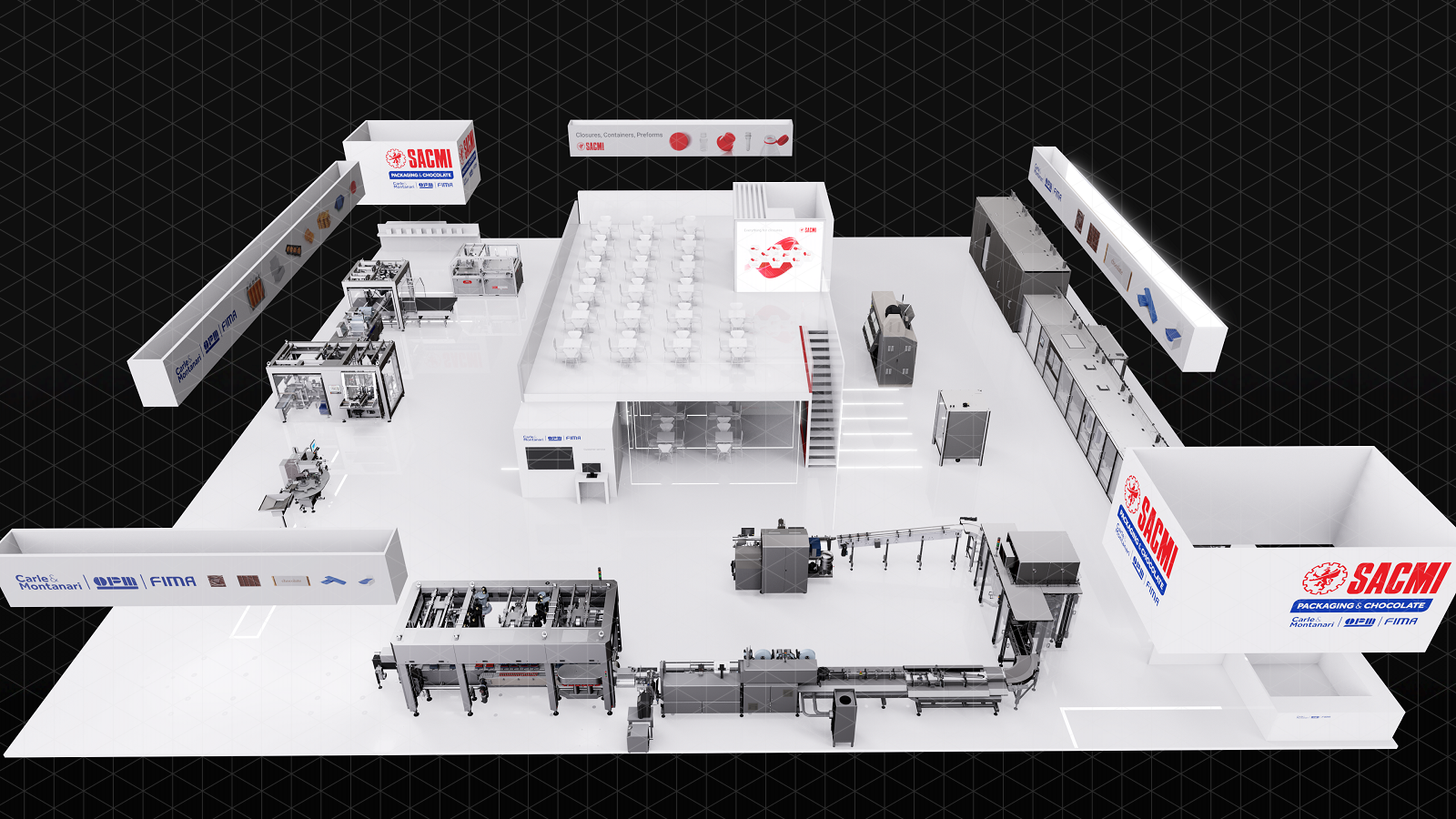 Interpack booth Sacmi Packaging & Chocolate