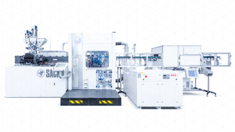 Precise, cost efficient, versatile: SACMI CBF (Compression Blow Forming) Plastic container production line