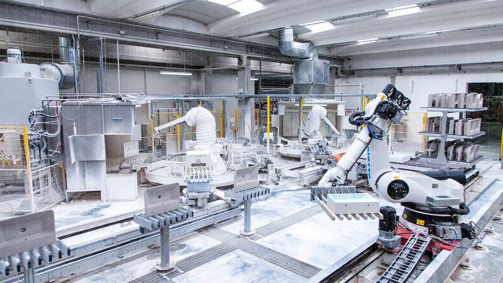 robotised casting and glazing lines | SACMI
