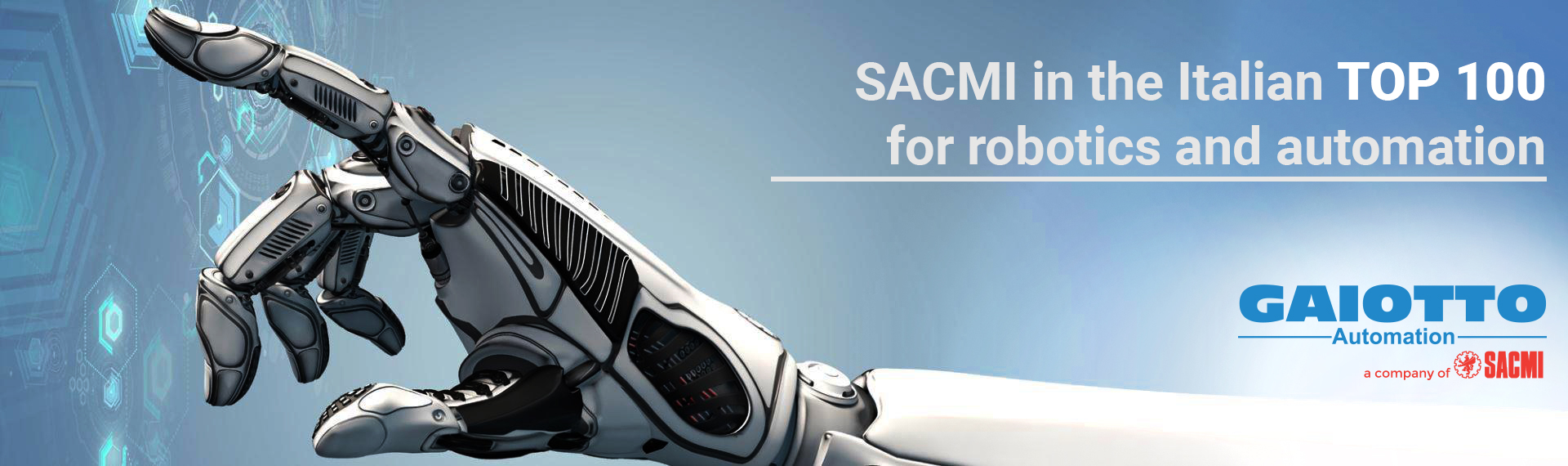 SACMI in the Italian top 100 for robotics and automation